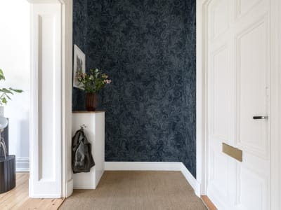 Tapet R16252 Twining Vines, Navy bilde 1 av Rebel Walls