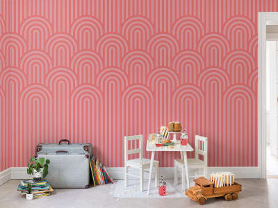 Wall Mural R16283 Happy Hills, Bubble Gum image 1 by Rebel Walls