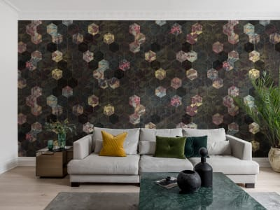 Murale R16241 Vinum Hexagon ​​immagine 1 di Rebel Walls