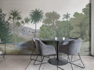 Mural de pared R14614 JUNGLE LAND, COLOR imagen 1 por Rebel Walls