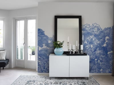 Mural de pared R13055 Bellewood, Porcelain Toile imagen 1 por Rebel Walls