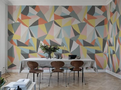 Mural de pared R16681 Retro Geometry imagen 1 por Rebel Walls