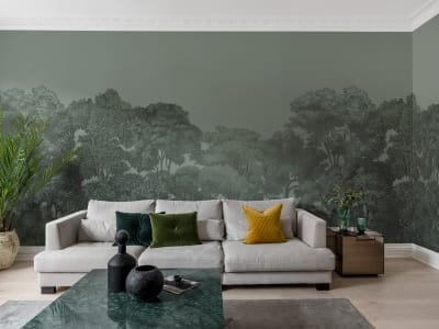 Murale R13058 Bellewood, Solid Green ​​immagine 1 di Rebel Walls
