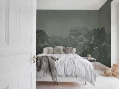 Wall Mural R13058 Bellewood, Solid Green image 1 by Rebel Walls
