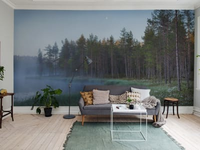 Mural de pared R16421 Forest Lake imagen 1 por Rebel Walls