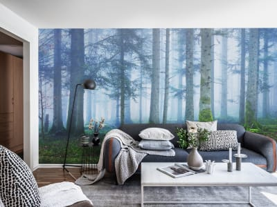 Mural de pared R16661 Blue Forest imagen 1 por Rebel Walls