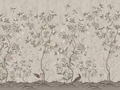 Mural de pared R16743 Chinoiserie Chic, Powder Beige imagen 1 por Rebel Walls