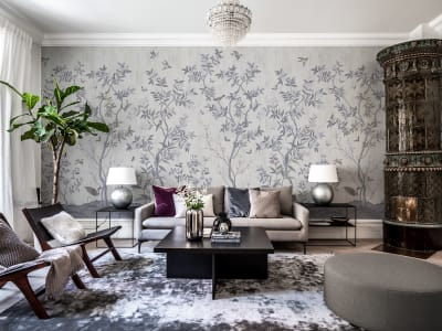 Tapet R16741 Chinoiserie Chic, Pearl Gray bilde 1 av Rebel Walls
