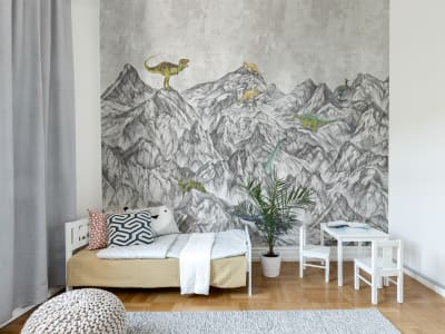 Mural de pared R16991 Dinosaur Mountain imagen 1 por Rebel Walls