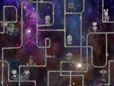 뮤럴 벽지 R16902 We are Robots, Stardust 이미지 1 레벨월스
