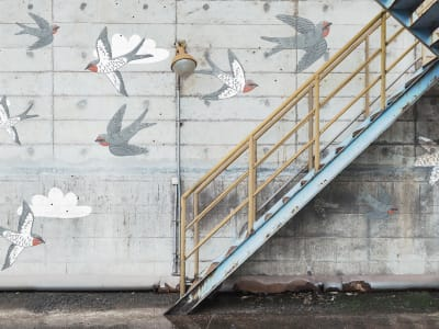 Tapet R16962 Stairway Graffiti, Swallow bild 1 från Rebel Walls