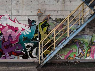 Wall Mural R16961 Stairway Graffiti image 1 by Rebel Walls