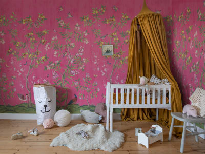 Tapet R16746 Chinoiserie Chic, Fuchsia bilde 1 av Rebel Walls