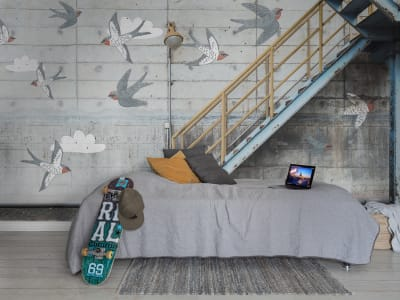 Mural de pared R16962 Stairway Graffiti, Swallow imagen 1 por Rebel Walls