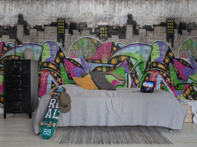 Mural de pared R16973 Concrete Art imagen 1 por Rebel Walls