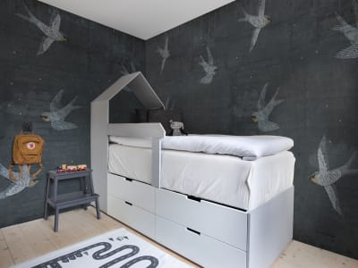 Kuvatapetti R16972 Concrete Art, Night Swallow kuva 1 Rebel Wallsilta
