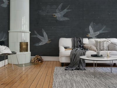 Wall Mural R16972 Concrete Art, Night Swallow image 1 by Rebel Walls