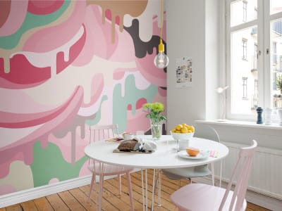 Murale R16943 Dripping Rainbow, Marshmallow ​​immagine 1 di Rebel Walls