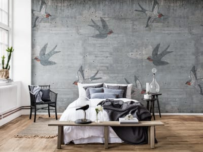 Tapete R16971 Concrete Art, Swallow Bild 1 von Rebel Walls