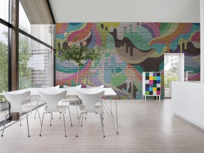 Décor Mural R16941 Dripping Rainbow image 1 par Rebel Walls