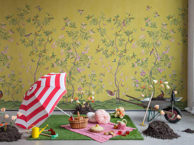 Mural de pared R16745 Chinoiserie Chic, Saffron imagen 1 por Rebel Walls