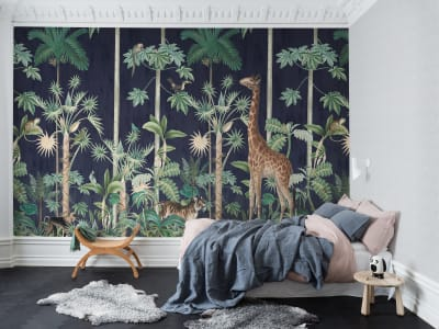 Wall Mural R16792 Giraffe's Stroll, Nightfall image 1 by Rebel Walls