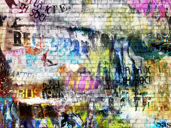 Wall Mural R10572 Street Art, brick wall image 1 by Rebel Walls
