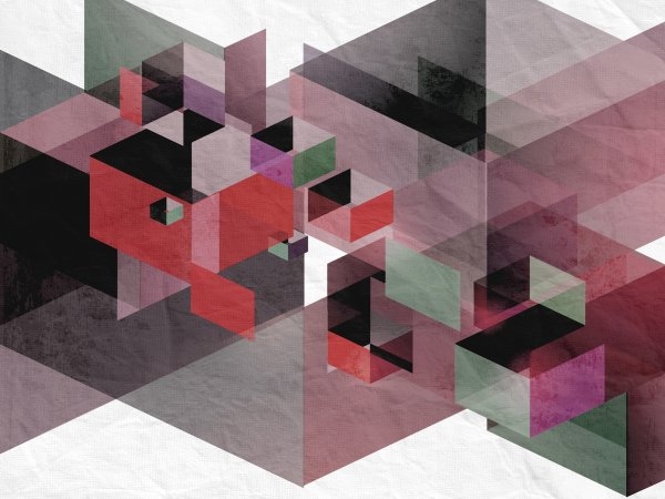Wall Mural R12313 Fractal, red image 1 by Rebel Walls