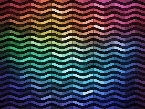 Wall Mural R12411 Rainbowwave image 1 by Rebel Walls