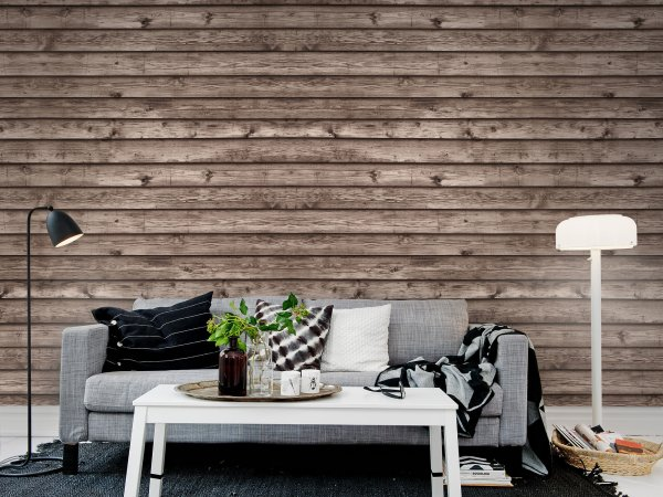 Tapete R12583 Horizontal Boards, brown Bild 1 von Rebel Walls