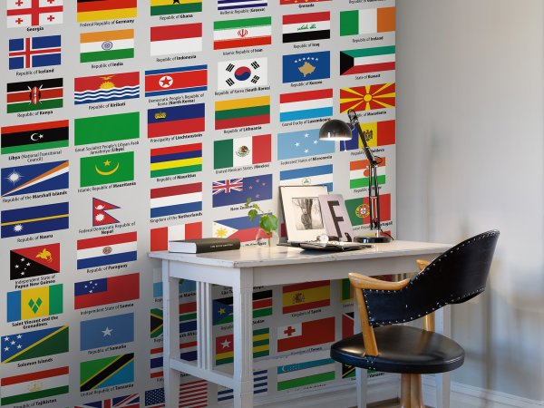 Wall Mural R10741 Flags of Sovereign States image 1 by Rebel Walls