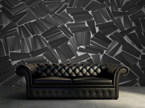 Tapete R11512 Books, black Bild 1 von Rebel Walls