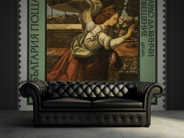 Wall Mural R11811 Art Stamp image 1 by Rebel Walls