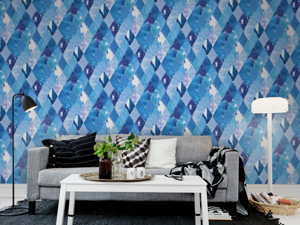Wall Mural R12232 Harlequin, blue image 1 by Rebel Walls