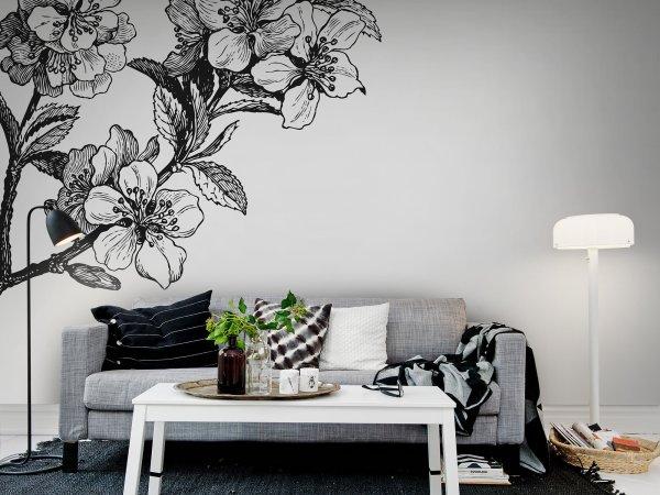 Tapete R12652 Springtime, black&white Bild 1 von Rebel Walls
