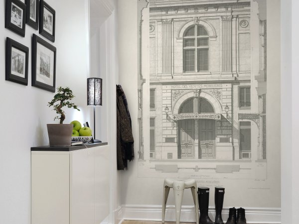 Wall Mural R12761 Hotel Des Ventes, Vintage image 1 by Rebel Walls