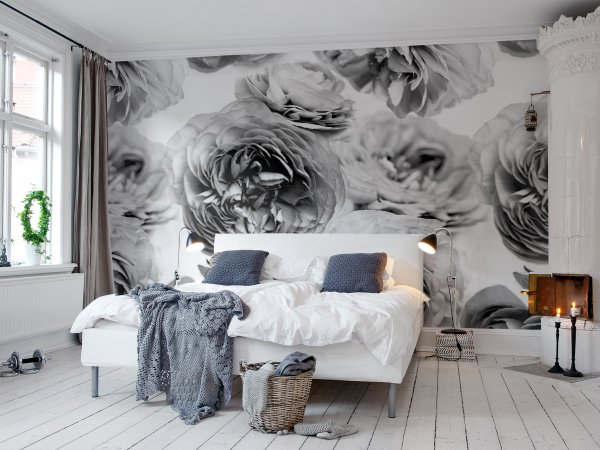 Wall Mural R13092 Summer Wind, Black and White image 1 by Rebel Walls