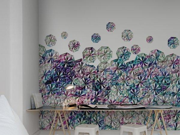 Tapete R13202 Florigami, Color Bild 1 von Rebel Walls