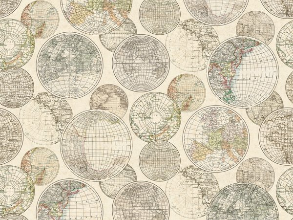 Wall Mural R13881 Globes Gathering image 1 by Rebel Walls