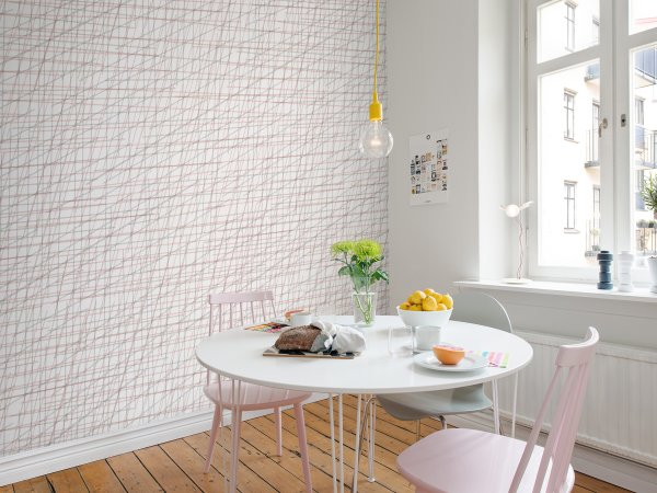 Wall Mural R14023 Note Sheets, Soft Pink image 1 by Rebel Walls