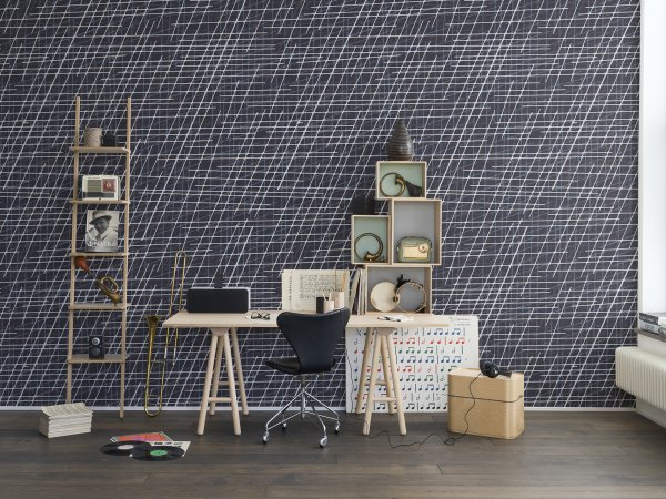 Tapete R14024 Note Sheets, Denim Bild 1 von Rebel Walls