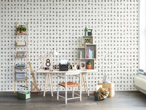 Wall Mural R13971 Typomania image 1 by Rebel Walls