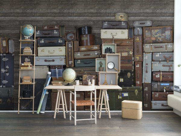Wall Mural R14061 Stacked Suitcases image 1 by Rebel Walls