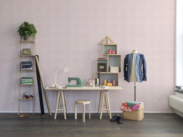 Tapete R14113 Perfect Fit, Powder Pink Bild 1 von Rebel Walls