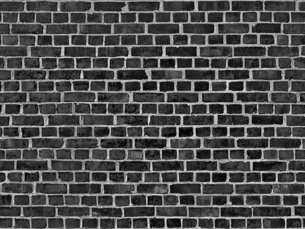 Wall Mural R10962 Brick Wall, black image 1 by Rebel Walls