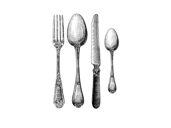Wall Mural R11791 Cutlery image 1 by Rebel Walls