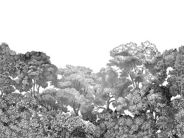 Tapete R13053 Bellewood, Black Toile Bild 1 von Rebel Walls