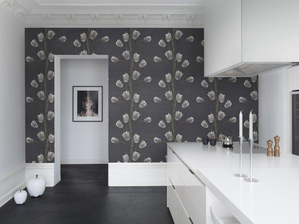 Wall Mural R13061 La Vie En Tulipe, Black image 1 by Rebel Walls