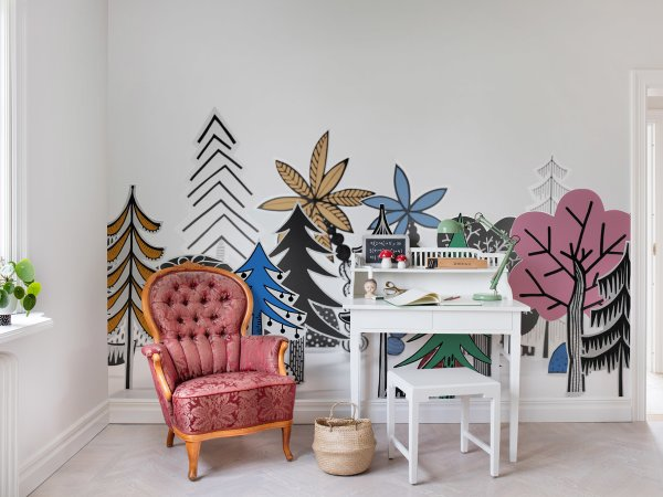 Wall Mural R14581 Nordic Valley, Color image 1 by Rebel Walls