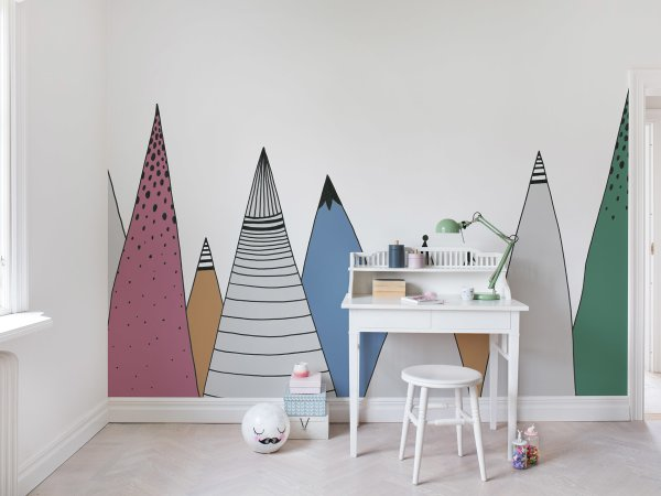 Wall Mural R14583 Mountain Ridge, Color image 1 by Rebel Walls